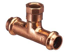 """>B< Press Water Female Adaptor Tee 15mm x 15mm x 1/4"""""""""""