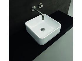 AXA Sheer Square Vessel Basin No Taphole 355 x 355mm White