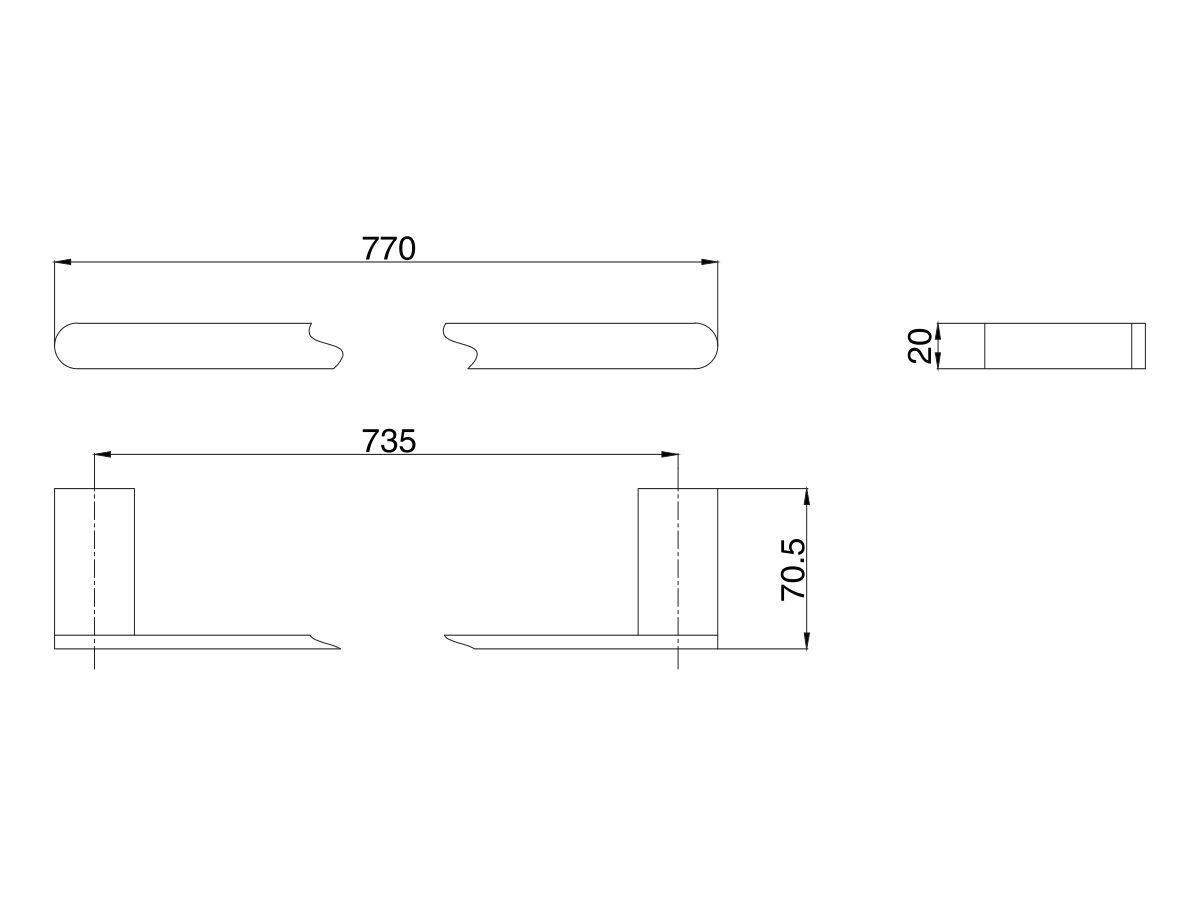 Mizu Soothe Single Towel Rail 750mm