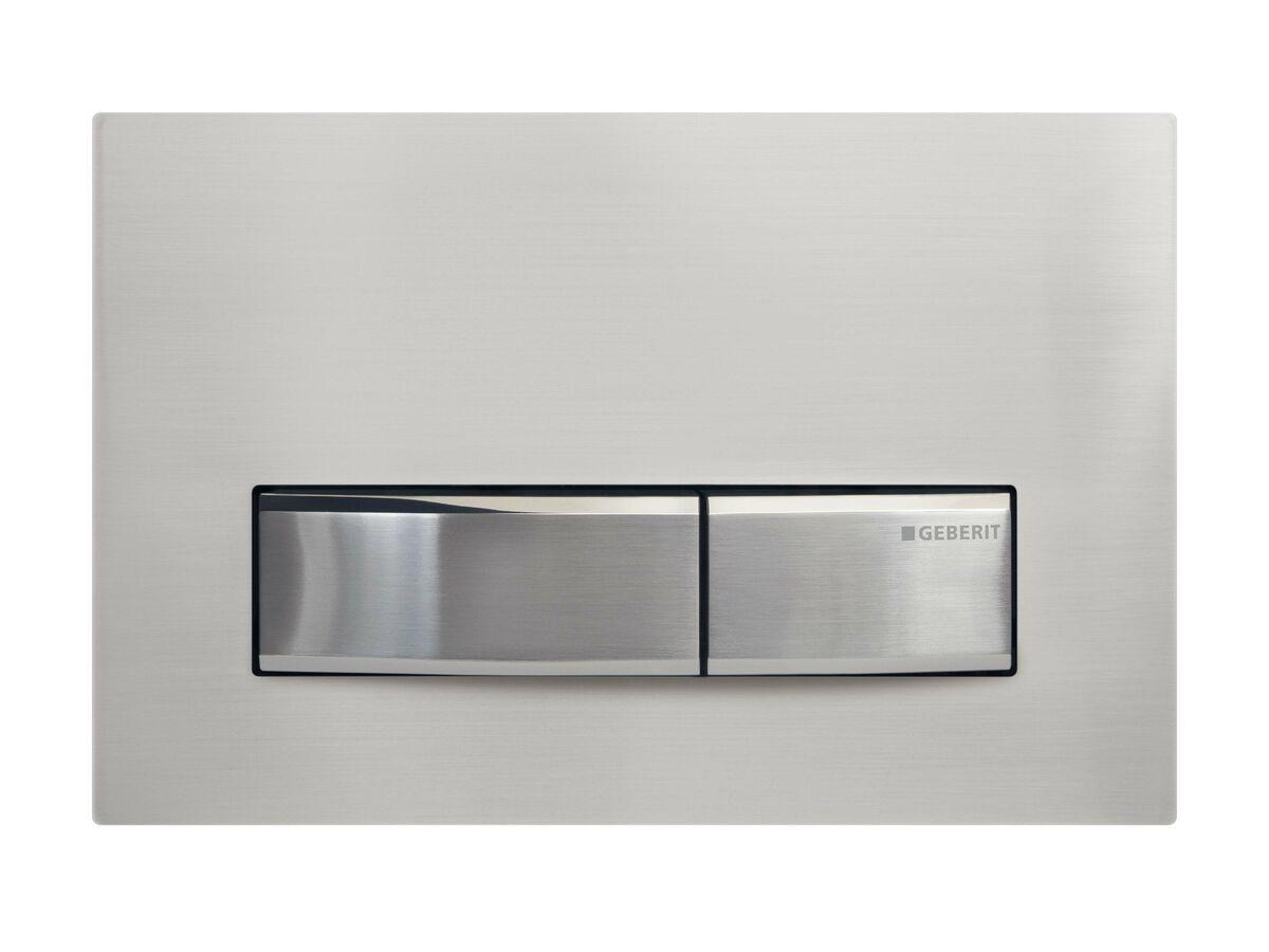 Geberit Sigma 50 Dual Flush Button Brushed Nickel Metallic
