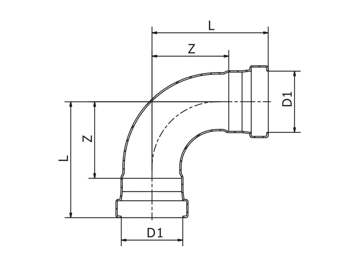B-Press XL Elbow 90 Degree