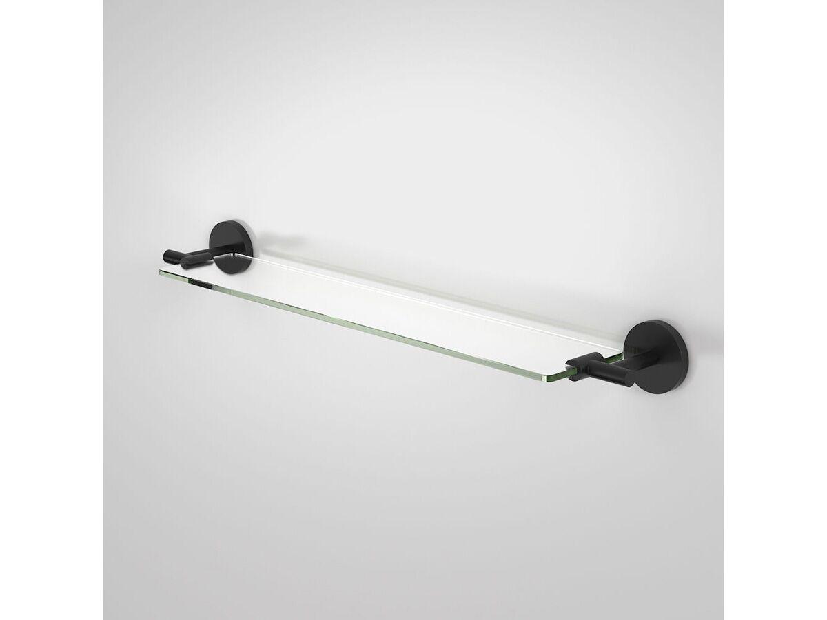 Caroma Liano Nexus Metal/Glass Shelf Black