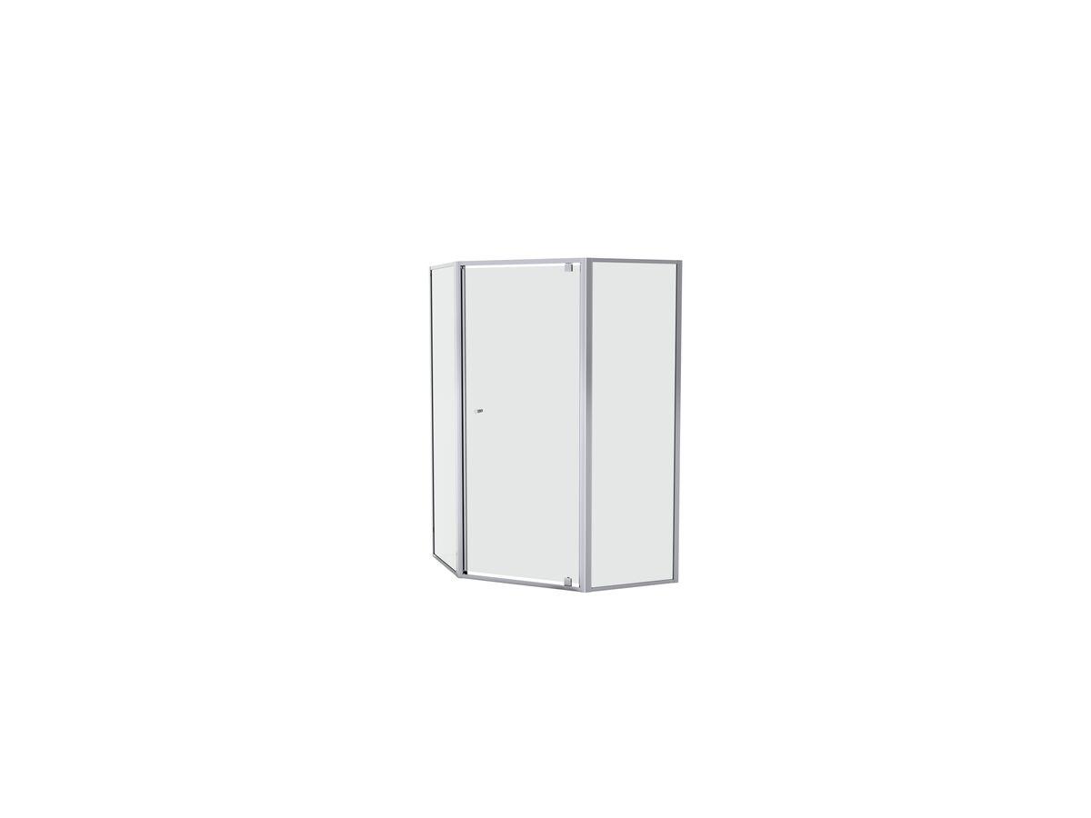 Creative Glass Semi-Framed Adjustable Corner/ Angled Shower Screen with Pivot Door