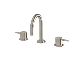 Scala Basin Set Curved LUX PVD Brushed Oyster Nickel (5 Star)