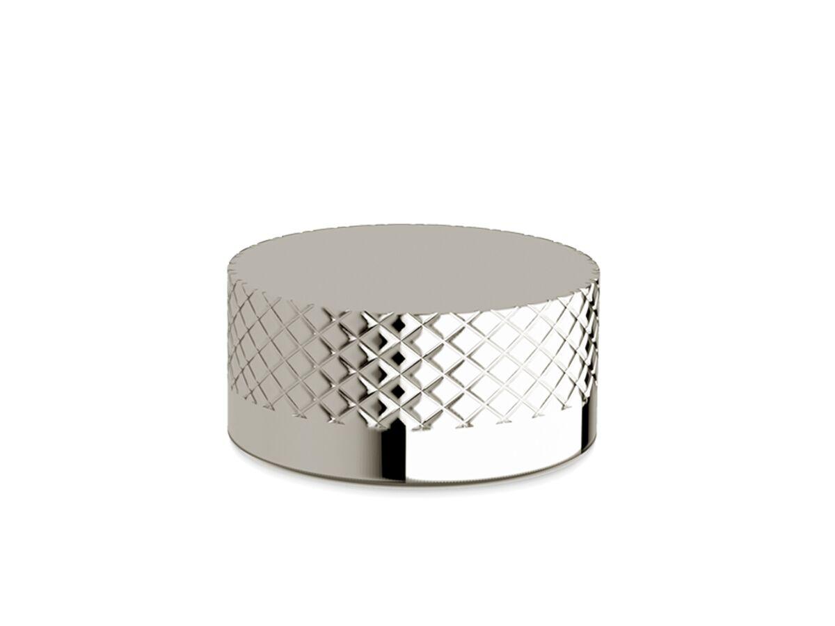 Milli Pure Progressive Hob Mixer Tap with Diamond Textured Handle Chrome