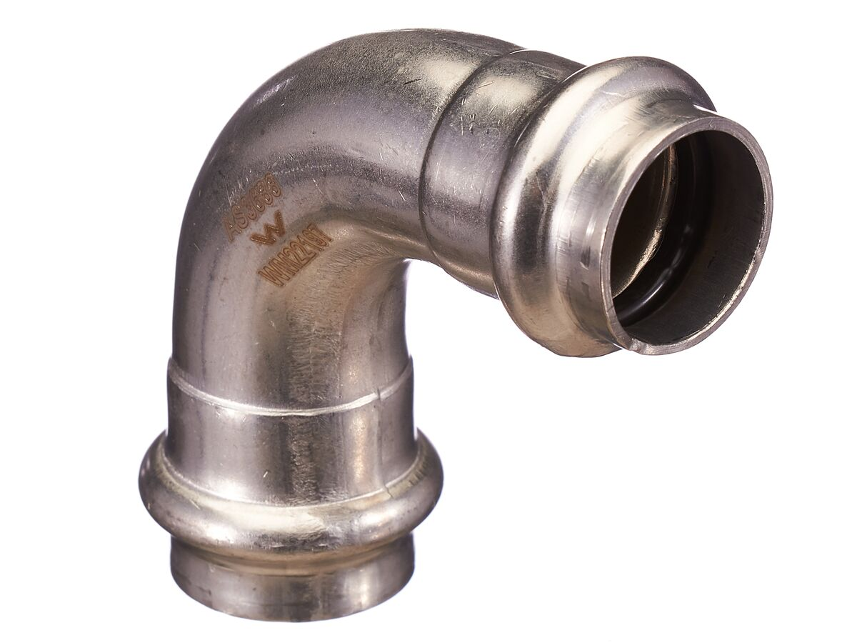 >B< Press Stainless Steel Elbow 90 Degree x 22mm