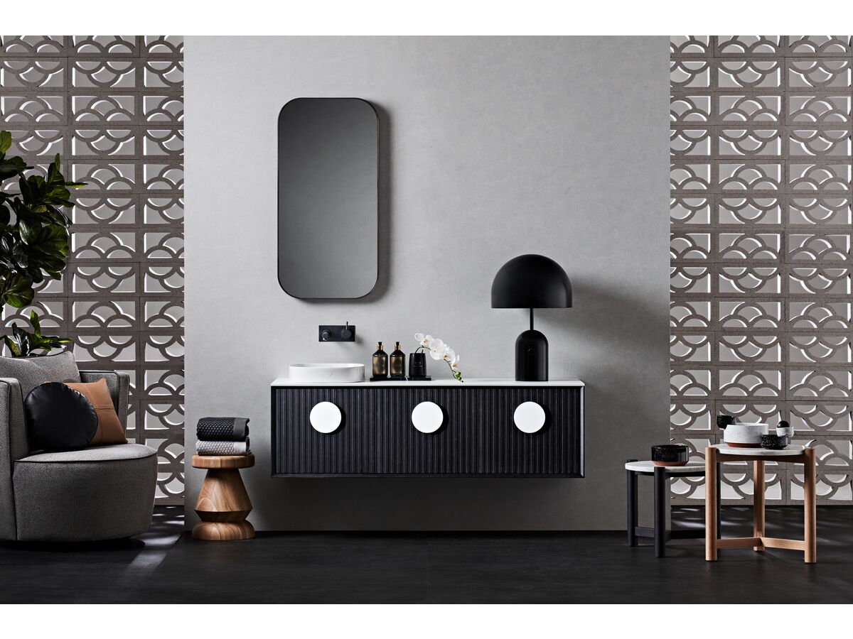 Issy Halo III Vanity Unit and Issy Z1 Oval Mirror