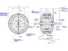 50D501-80A Twin Shaft Fan Motor 10W