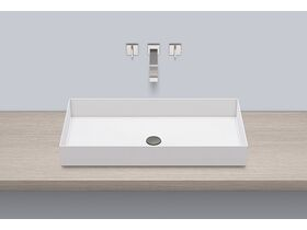 Alape Metaphor Counter Basin No Taphole 750mm White