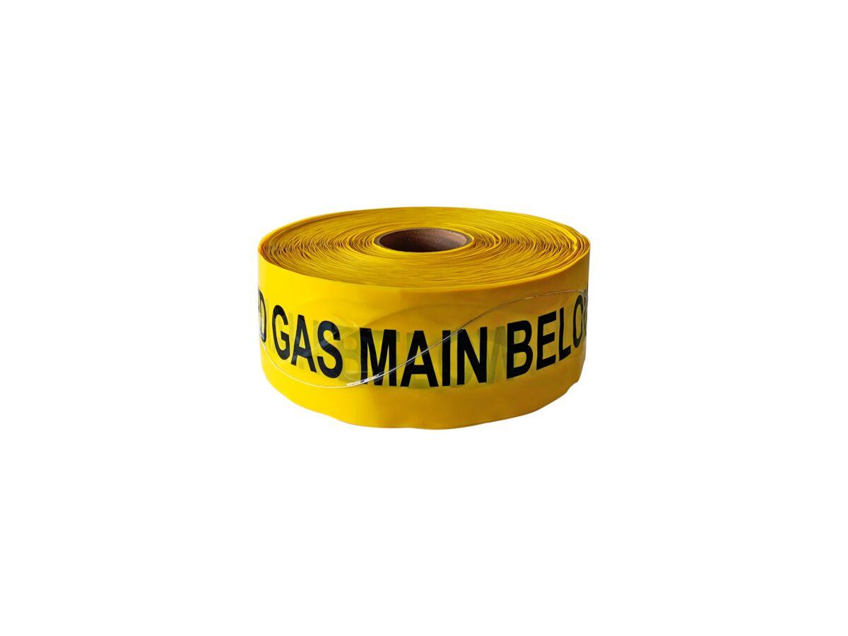 Bridgland Detectable Tape Gas Below 100mm x 250mtr