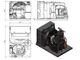 Tecumseh HTA Condensing Unit 1/2hp R404A LBP AET2420ZBR-FZ1B
