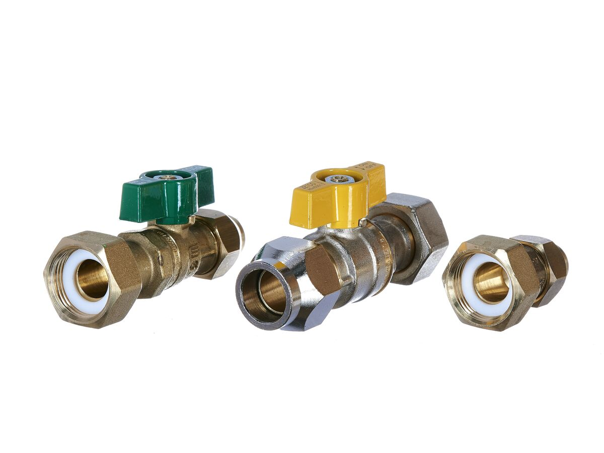 Valve Kit Continuous Flow 15 Flared x 20 Water + 20 Flared Gas