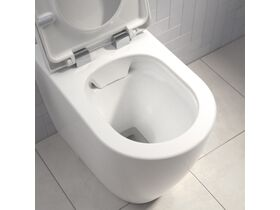 Caroma Forma Close Coupled Back To Wall Over Height Rimless Toilet Suite with Soft Close Quick Release Seat White (4 Star)