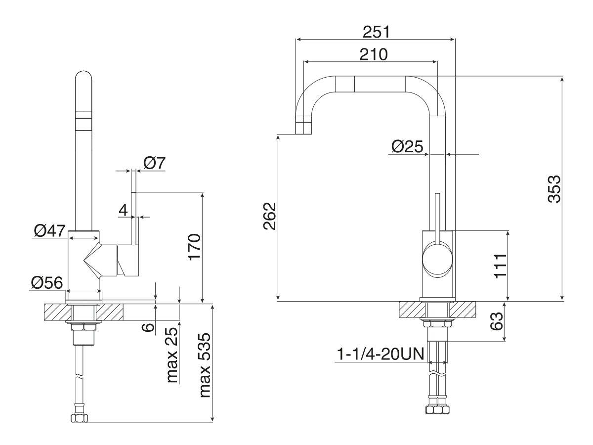 Milli Inox Sink Mixer Stainless Steel (5 Star)