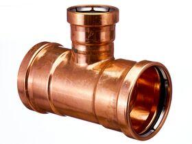>B< Press Water Reducing Tee 100mm x 100mm x 65mm
