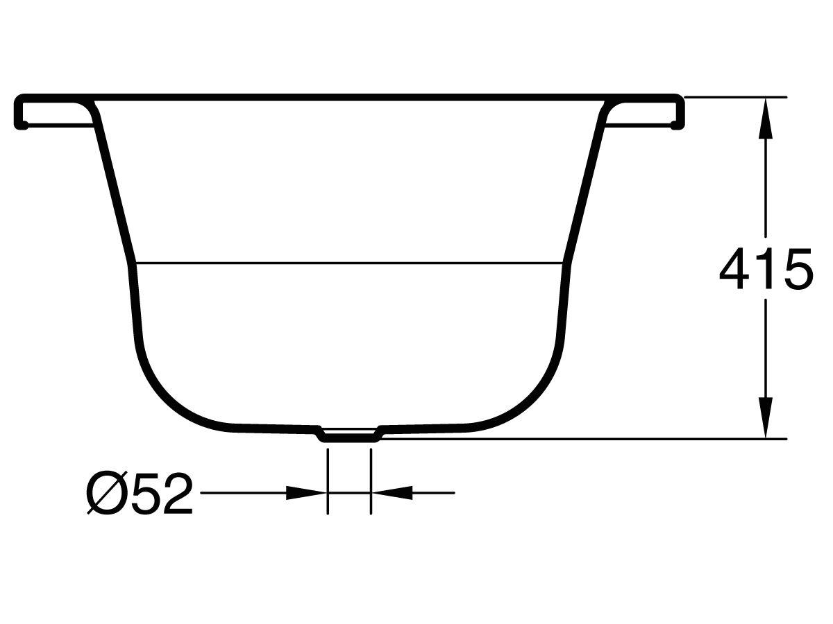 Roca Duo Plus Oval Inset Bath 1800x800mm White