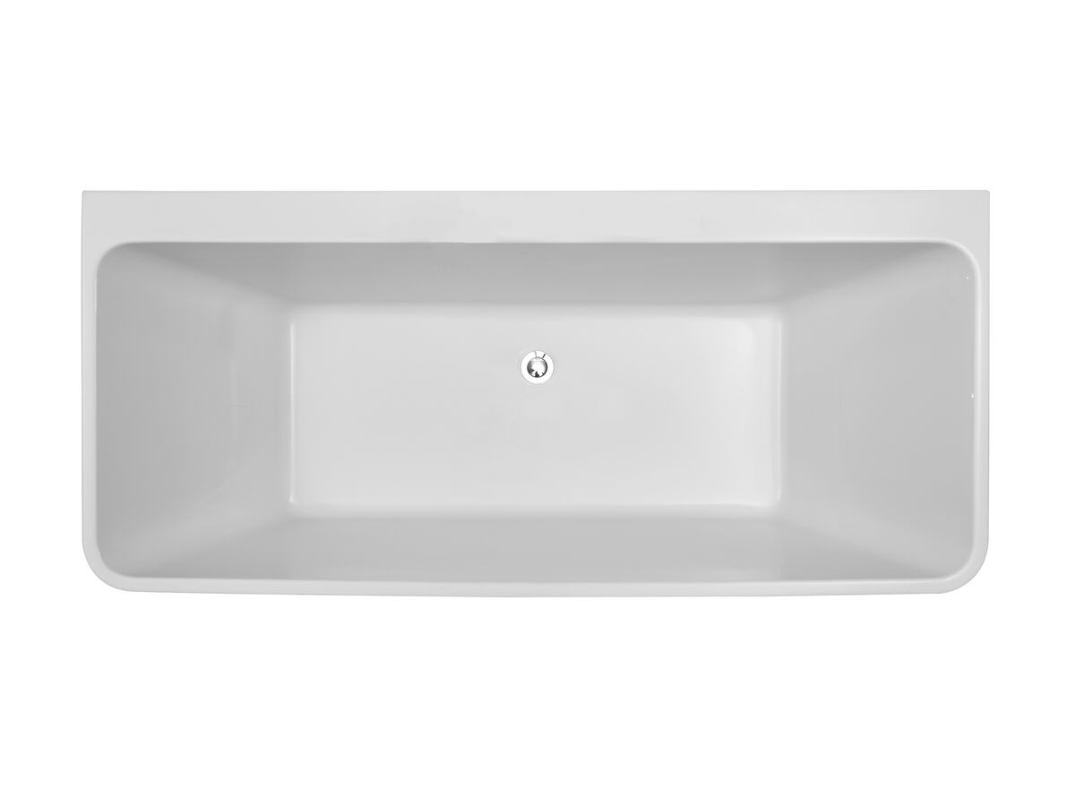 Posh Domaine Back to Wall Freestanding Bath 1500 x 720mm White