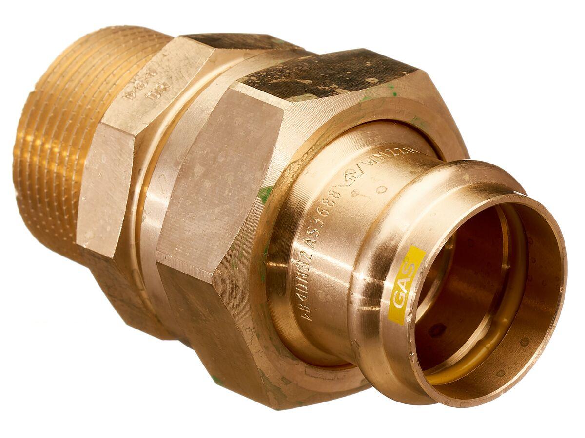 ">B< Press Gas Male Union 32mm x 1 1/4"" BSP"""