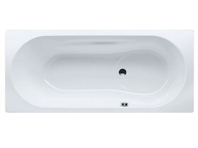 Kaldewei Vaioset Bath with Overflow 1700mm White/ Chrome