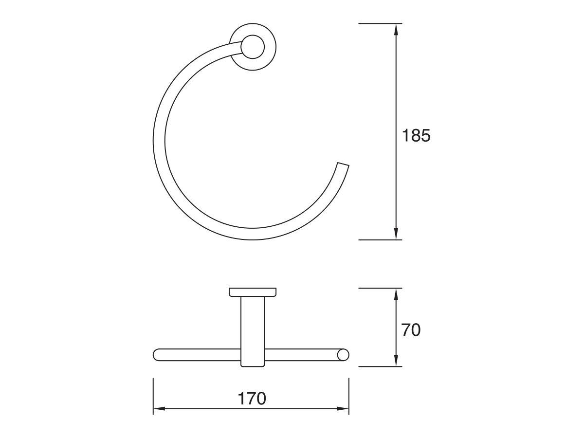 Mizu Drift Towel Ring Chrome