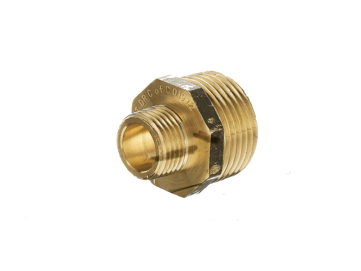 Nipple Hex Reducing Brass 25mm x 15mm