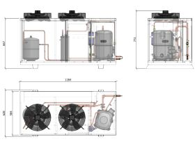 ACPAC Packaged Condensing Unit AP13.1M2-4 3 Phase