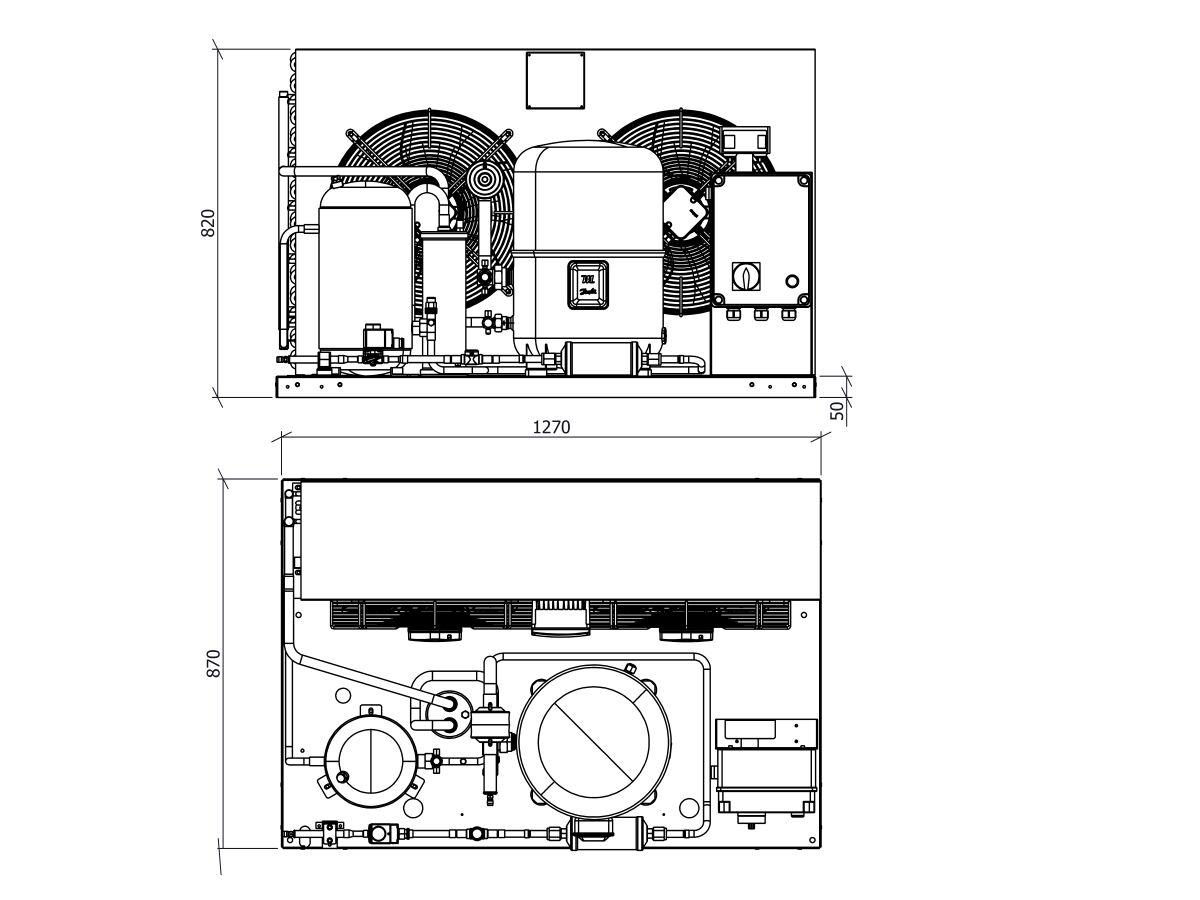 Ryker Dairy Unit GH168MHA1-2 8hp