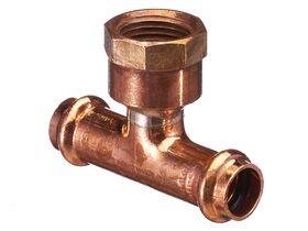 """>B< Press Water Female Adaptor Tee 15mm x 15mm x 1/2"""""""""""
