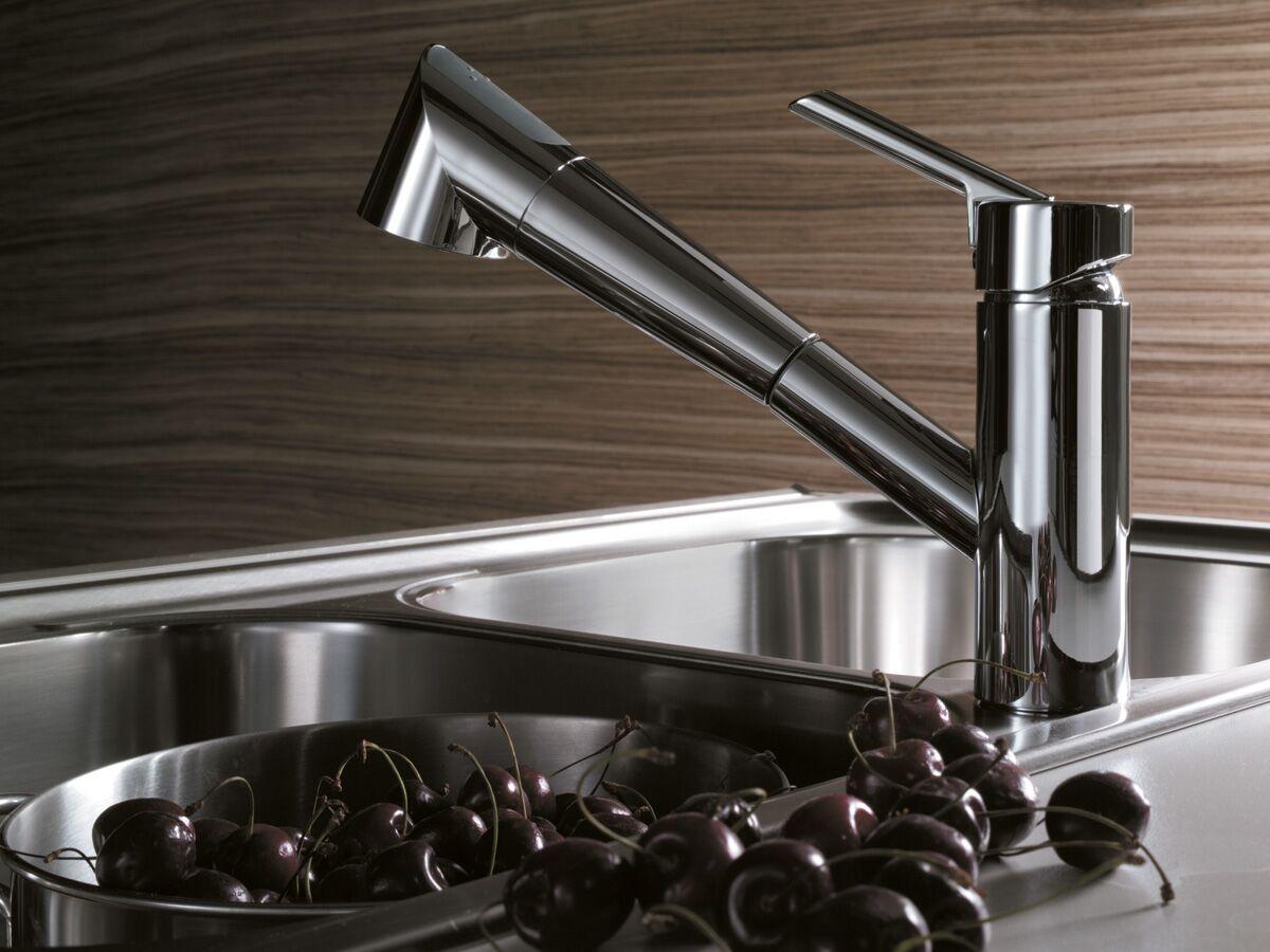 Nobili Oz T2 Pull Out Spray Sink Mixer Chrome (4 Star)