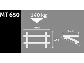 Rodigas Air Conditioner Roof Bracket 140Kg 520mm