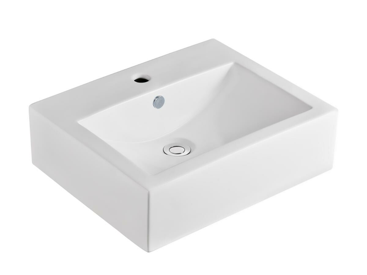 Posh Solus Counter Basin 500 x 400mm 1 Taphole White
