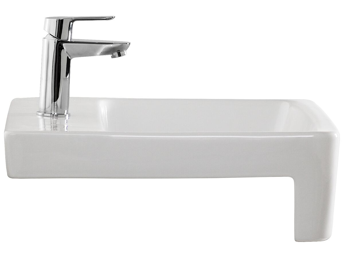 American Standard Heron Semi-Recessed Basin with 1 Taphole White