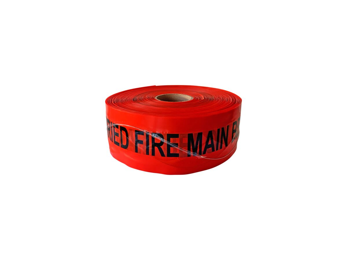 Bridgland Detectable Tape Fire Line 100mm x 250mtr
