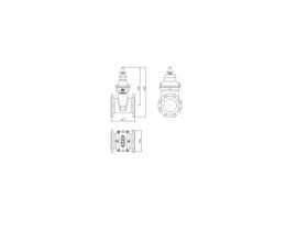 Line Drawing - 150 DIMAX FL PN16 RS GATE VALVE B5