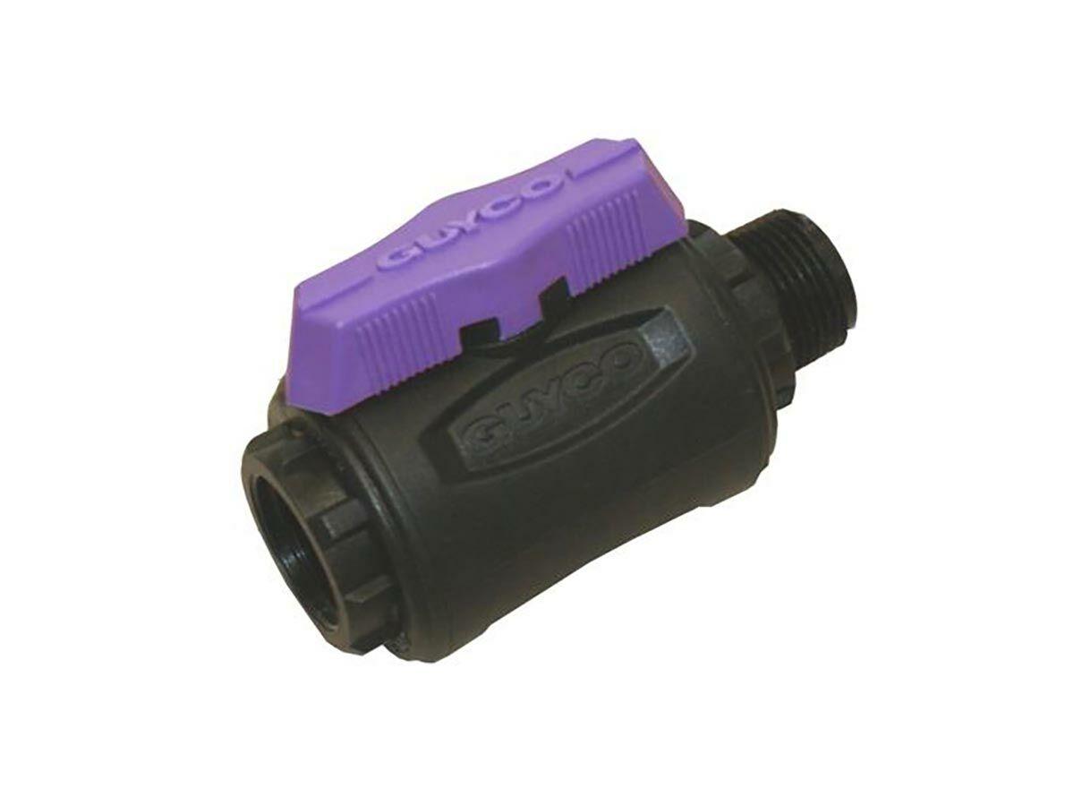 Guyco Nylon Ball valve Lilac Fi x Mi BSPT