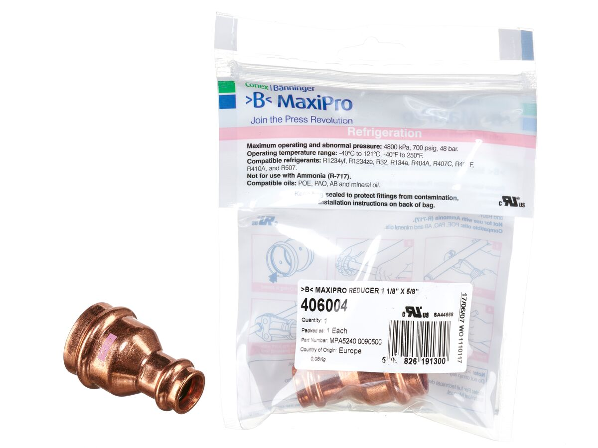 ">B< Maxipro Reducer 1 1/8"" x 5/8"""" Bag of 1"""