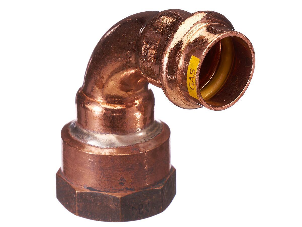 >B< Press Gas Threaded Elbow 20mm x 20mm Female