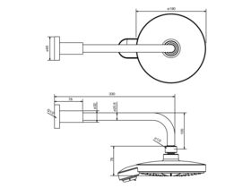 Grohe Power & Soul Cosmo 190mm Overhead Shower & Arm Chrome