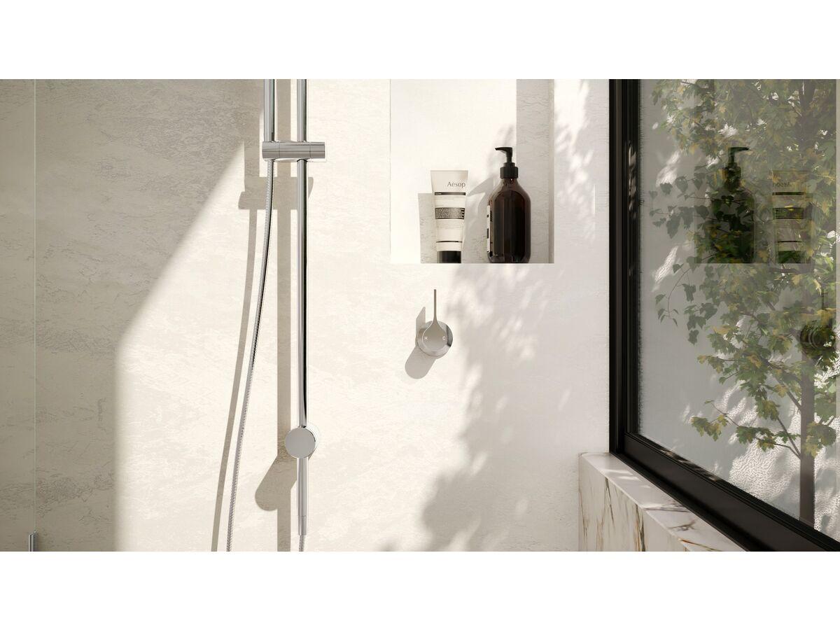 Milli Oria Shower/Bath Wall Mixer Chrome