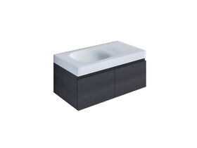 Kado Lussi 900mm Wall Hung Vanity Unit with Two Soft Close Doors Timber Finish