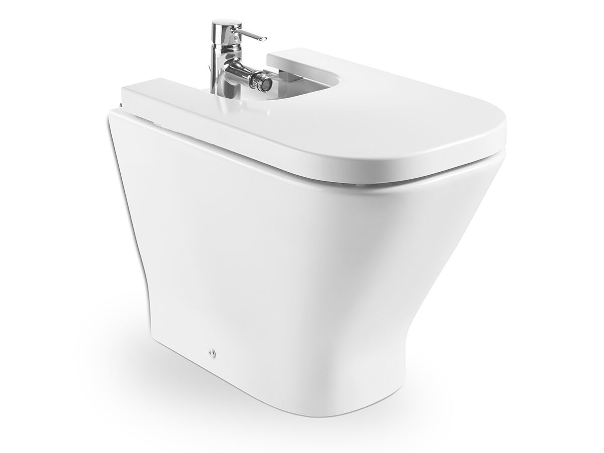 Roca The Gap Back to Wall Bidet & Cover 1 Taphole White