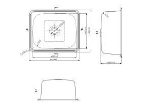 POSH Solus Flat Rim Trough 45 Litres Stainless Steel No Taphole