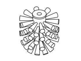 Sonia Dynamic / Eletech / Tecno Brush Head Only
