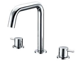 Mizu Drift Swivel Hob Bath / Spa Set Chrome