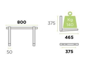 Rodigas Air Conditioner Wall Bracket 140kg 465mm