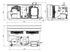 Tecumseh EVO Condensing Unit 2.5hp R404 MHBP EPCH4531Z-3 Phase