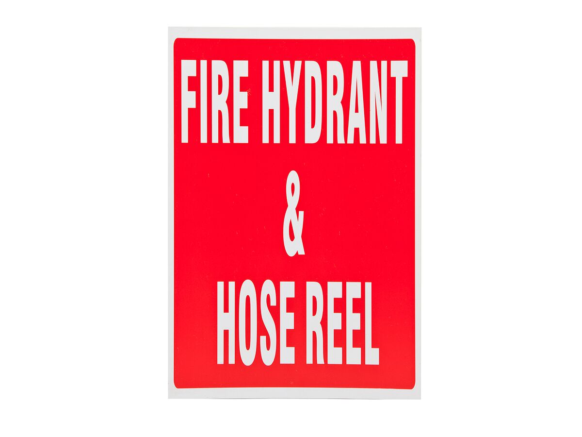 Location Signs -Fire Hydrant & Hose Reel - Plastic
