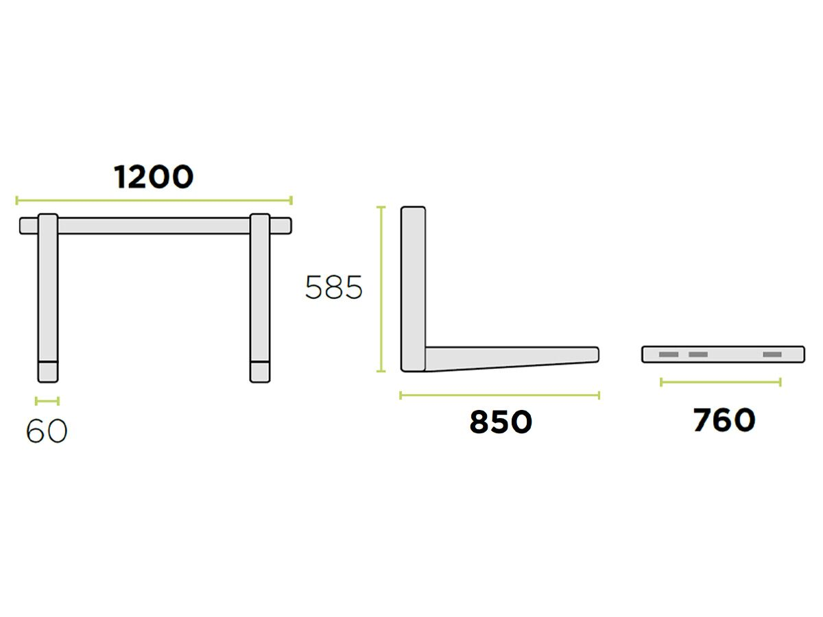 Rodigas Ref Wall Bracket 100kg 850W850D