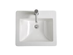 POSH Solus Vanity Basin 525 x 450mm 1 Taphole White