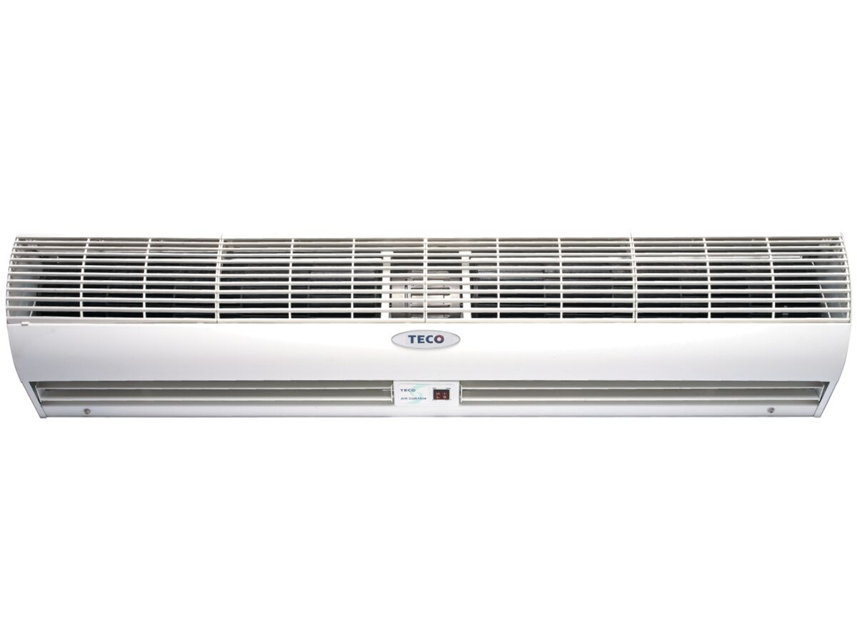 Teco 1200mm Air Curtain, Perfect Airflow for 3.5m ~ 4.5m Blow, Noise Level < 45db(A) Magnetic Reed Door Switch, Remote Control